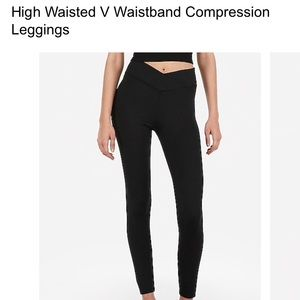 High waisted compression leggings never worn